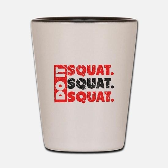Do It. Squat.Squat.Squat | Vintage Style Shot Glas