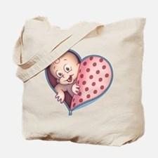 Open Hearted Wombie Tote Bag