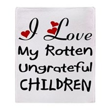 Rotten Children Throw Blanket