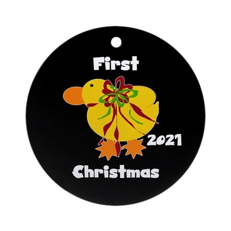 2014 Yellow Duck Ornament (round)