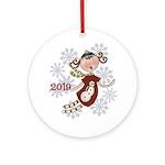 Angel Snowman 20146 (round) Round Ornament