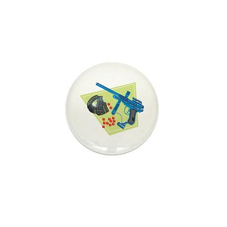 Paintball Equipment Graphic Mini Button