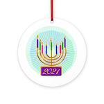 2016 Hanukkah (round) Round Ornament