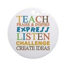 Teacher Creed Ornament (Round)