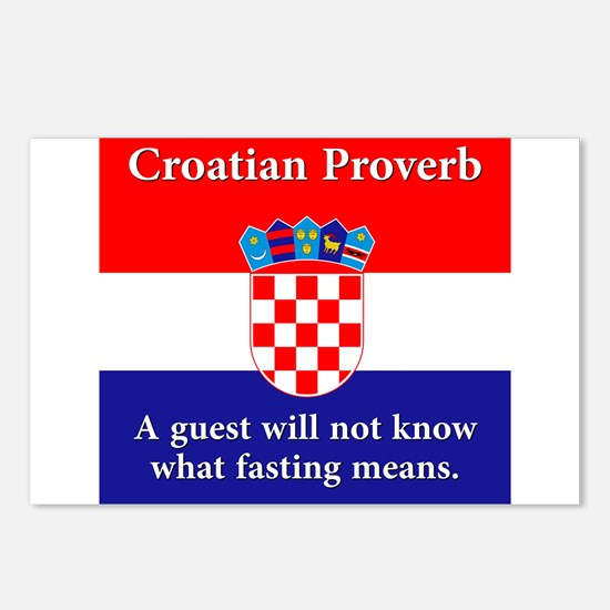 A Guest Will Not Know - Croatian Proverb Postcards