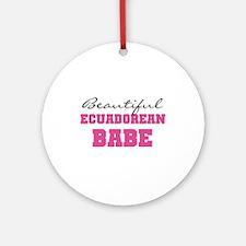 Ecuadorean Babe Ornament (Round)