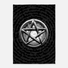 Silver Pentacle 5'x7'Area Rug