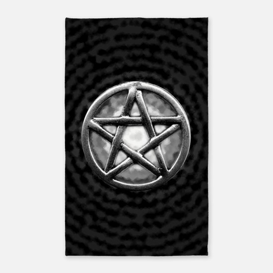 Silver Pentacle 3 X5 Area Rug