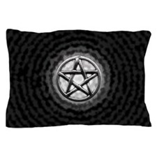 Silver Pentacle Pillow Case