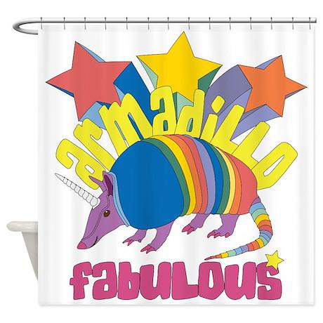 Armadillo Fabulous Shower Curtain