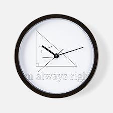 Right Triangle Wall Clock