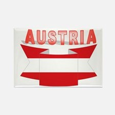 Austrian flag ribbon Rectangle Magnet