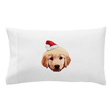 Golden_Retriever_Xmas_face002b Pillow Case