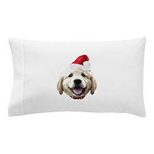 Golden_Retriever_Xmas_Face001a Pillow Case