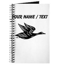 Custom Black Flying Duck Silhouette Journal