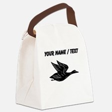 Custom Black Flying Duck Silhouette Canvas Lunch B