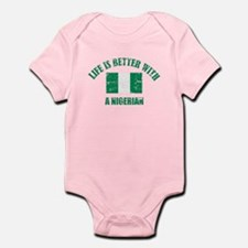 Life is better with Nigerian Infant Bodysuit