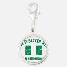 Life is better with Nigerian Silver Round Charm