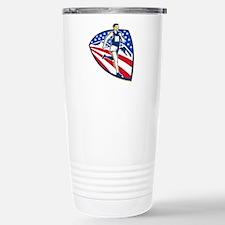 American Marathon Runner Running Retro Travel Mug