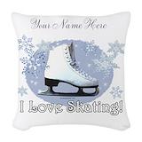 Ice skate Woven Pillows