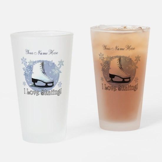 I Love Skating! Drinking Glass