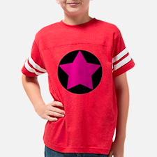 circle star pink Youth Football Shirt