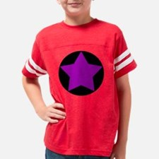 circle star purple Youth Football Shirt