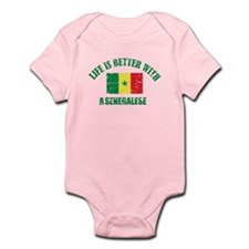 Life is better with a senegalese Infant Bodysuit