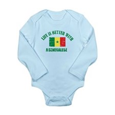 Life is better with a senegalese Long Sleeve Infan
