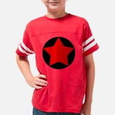 circle star red Youth Football Shirt