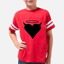heart horns halo Youth Football Shirt