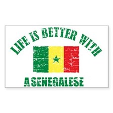 Life is better with a senegalese Decal