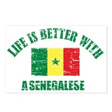 Life is better with a senegalese Postcards (Packag
