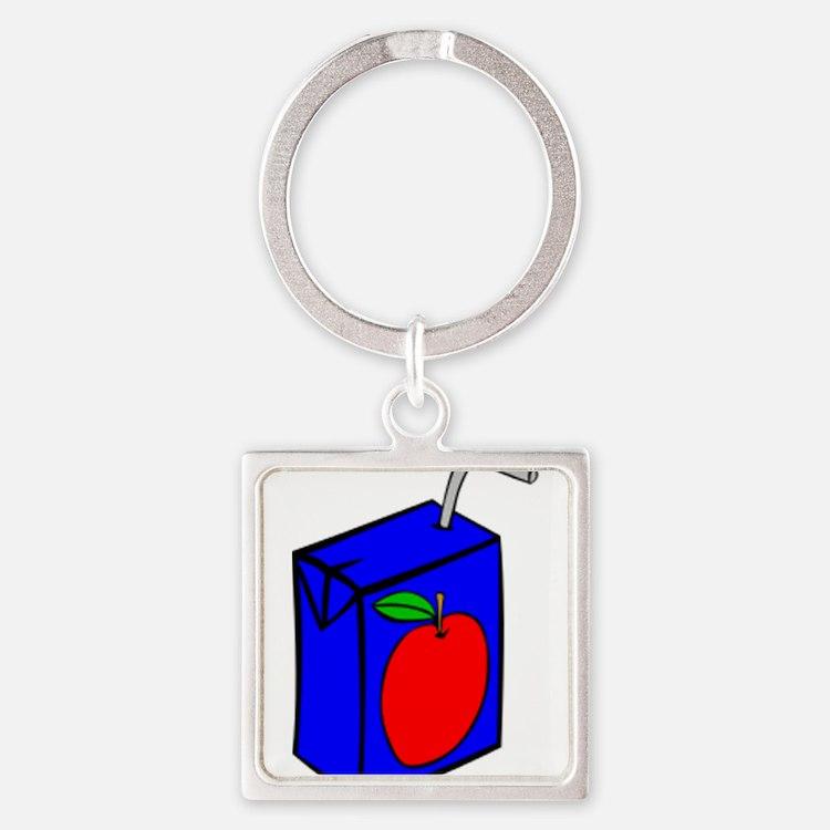 Apple Juice Box Keychains