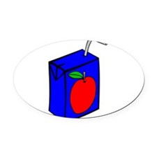 Apple Juice Box Oval Car Magnet