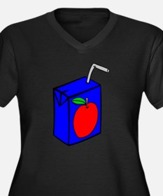 Apple Juice Box Plus Size T-Shirt