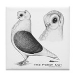 Polish Owl Tile Coaster