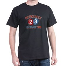 Officially 28 forever 18 T-Shirt