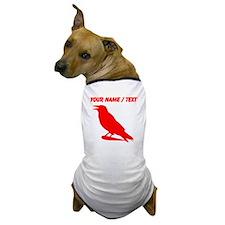 Custom Red Crow Silhouette Dog T-Shirt