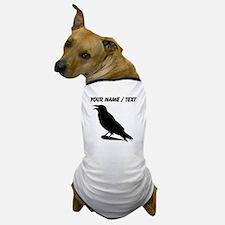 Custom Black Crow Silhouette Dog T-Shirt