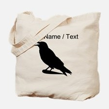 Custom Black Crow Silhouette Tote Bag