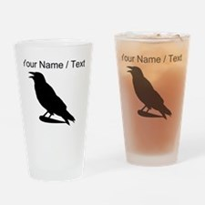 Custom Black Crow Silhouette Drinking Glass