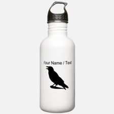 Custom Black Crow Silhouette Sports Water Bottle