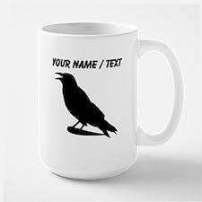 Custom Black Crow Silhouette Mugs