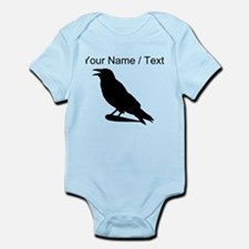 Custom Black Crow Silhouette Body Suit