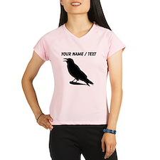 Custom Black Crow Silhouette Performance Dry T-Shi