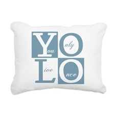 YOLO Square Rectangular Canvas Pillow