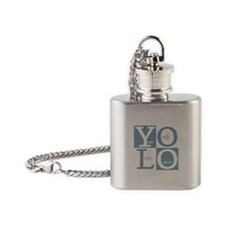 YOLO Square Flask Necklace