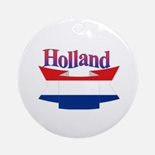 Holland flag ribbon Ornament (Round)