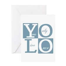 YOLO Square Greeting Cards
